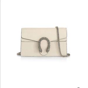 Gucci Super Mini Dionysus Leather Bag White